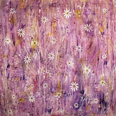 Margerit, lilla (70x70 cm) kr. 2.200