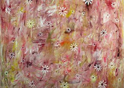 Margerit, lyserød (70x70 cm) kr. 2.200