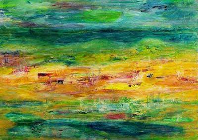 Abstrakt udsigt (55x45 cm) kr. 1.500
