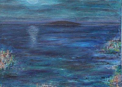 Måneskin (70x70 cm) kr. 2.900