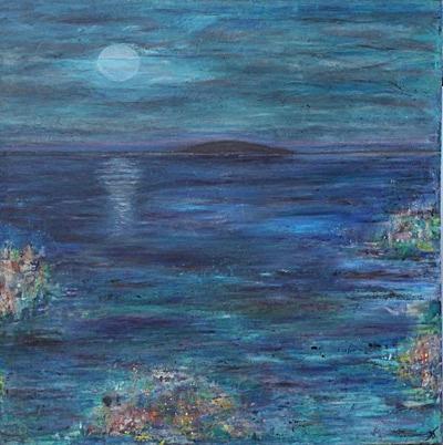 Måneskin (70x70 cm) solgt