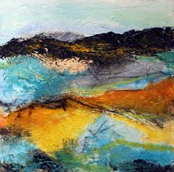 Abstrakt landskab (30x30 cm) privateje