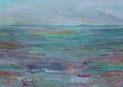 Stille brise ved havet (92x72 cm) kr. 4.500