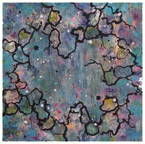Vandspejl II (30x30 cm) kr. 1.500