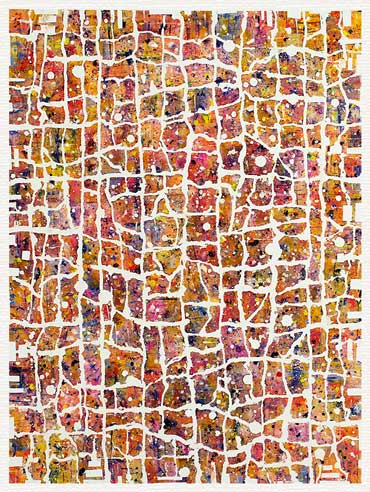 Mosaic abstract I (30x40 cm) kr. 1.500