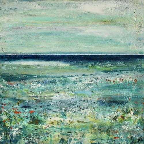 Stranddrømme II (20x20 cm) solgt