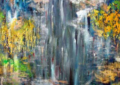 Blue Waterfall (90x90 cm) kr. 4.500
