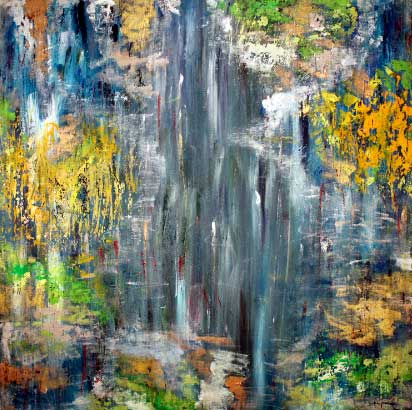 Blue Waterfall (80x80 cm) solgt